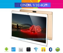chinese tablets onda 2019 - Wholesale- 10.1'' IPS Onda V10 4G Phone Call Tablet PC 1280*800 MTK6735 Quad Core Android 5.1 Dual SIM Card GP