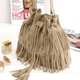 Suede Fringe Bag Drawstring Online | Suede Fringe Bag Drawstring ...