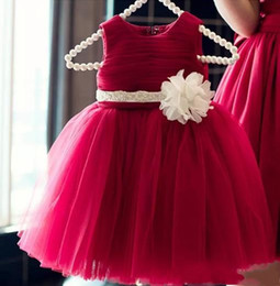 $enCountryForm.capitalKeyWord Canada - Red Ball Gowns Sleeveless Jewel Ruffle Pageant Dresses For Toddler Custom Made Kids Birthday Prom Dresses