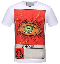 Top T-shirts Pas Cher-Supply Amour Eye Imprimer Hommes Casual T-Shirt Mode Ras Du Cou Taille 25 TShirts Homme Hip Hop Mâle Top T-shirts polos