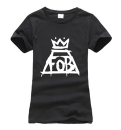 118ec96f19b8 Wholesale- 2016 summer Fall Out Boy FOB Women t-shirt fashion Print Harajuku  brand korean tee Shirt femme funny punk slim hipster cute tops