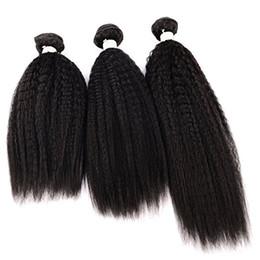 KinKy twists hair online shopping - Yaki Hair Bundles Kinky Twist Hair Extensions Natural Material Real Brazilian Virgin Human Hair Pieces Bundles A Unp