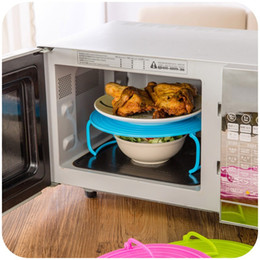 Steam heating online shopping - Steaming Racks Microwave Heating Rubber Layered Evaporation Rack Spacing Frame Anti Skid Pallet Circular Foldable Versatile Shelf pn G