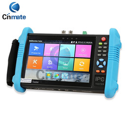 Cctv Wifi Ip Canada - 7 Inch IPS Touch Screen IP Camera Tester CCTV Tester CVBS Analog Tester with POE WIFI RJ45 TDR Dual Window Test Firmware Update 9800 Plus