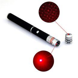 Lazer Pens Canada - Powerful 2in1 Red Laser Pointer Pen Puntero Laser 5mw Caneta Laser Red Violet Lazer Verde With Star Cap