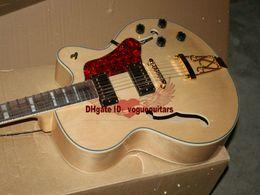 Metal Hollow Body Canada - JAZZ Electric Guitar Custom hollow jazz Guitar in Natural color Metal Music A12