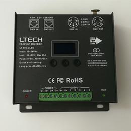 Discount xlr controller - 2018 LTECH LT-905-OLED LED Led RGB DMX512 Decoder Controller DC12-24V input 5A*5CH Max 25A 600W output RGB RGBW XLR-3 RJ
