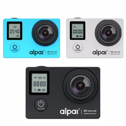 a1 electronics NZ - Aipal A1 Action Camera 4K 16MP 1080p Wifi Waterproof Camera Ultra HD 2.0LCD 173D 40m Double Screen Sport Camera.
