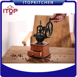$enCountryForm.capitalKeyWord Canada - ITOP IT3511 Manual Coffee Grinder Hand Operated Coffee Powder Maker Bean Mill For Home use With High-quality Ceramic Millstone