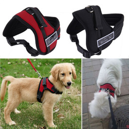 $enCountryForm.capitalKeyWord NZ - Big Dog Soft Adjustable Harness Pet Large Dog Walk Out Harness Vest Collar Hand Strap Pitbulls S M L XL XXL Worldwide Store