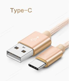 Wholesale Type C cable USB Cable line m Nylon braided Wire Data Sync Charging Data Cable Output For Sumsung HTC LG huawei xiaomi
