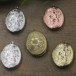 $enCountryForm.capitalKeyWord NZ - 23*29*7MM Silver antique bronze rose gold black gun oval flower photo locket charms jewelry, metal copper picture frame pendants wish box