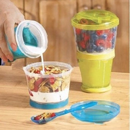 Select Plastic Canada - Breakfast Oatmeal Cup Western Style Multicolor Select Plastic Circular Mug Seal Up Leak Proof Heat Preservation For Adult 6yn I1 R