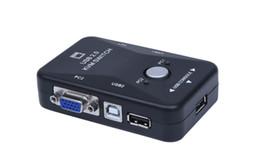 Горячая Продажа 2 порта VGA USB KVM переключатель Splitter автоматический контроллер клавиатуры мыши принтер до 1920*1440