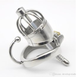 arc cock ring UK - Stainless Steel Male Chastity cock Cage with Base Arc Ring Devices sex toys C277-1
