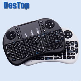 Wholesale Mini Rii i8 Wireless Keyboard 2.4G English Air Mouse Keyboard Remote Control Touchpad for Smart Android TV Box Notebook Tablet Pc