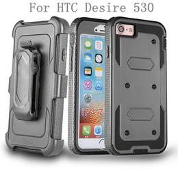 alcatel one touch phone covers 2019 - For HTC Desire 530 D530 626 630 For Alcatel One Touch Idol 4 Hybrid Armor phone Case Holster Combo Shockproof cover Belt