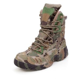Discount swat shoes - Original ESDY 2017 Designer Men Boots Tactical Genuine Leather Combat Boots Commandos SWAT Boots Camouflage Botas Gear O