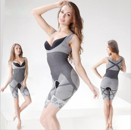 Barato Venda De Vestidos-Venda quente Magic Shapers Underwear Bamboo Charcoal Slimming Tits Bodysuit Body Shaper Shapers dress 3 SizeYYA136