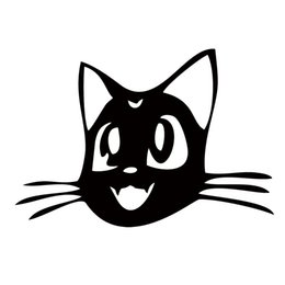 Funny Motorcycle Stickers Canada - Car Styling Cat Head Motorcycle Cute Funny Attractive Car Stickers Reflective Waterproof Vinyl Decal Car Window