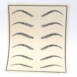 Fake skin For tattoo online shopping - 10Pcs Cosmetic Permanent Makeup Eyebrow Tattoo Practice Skin Supply Fake Eyebrow Tattoo Practice Skin for Microblading