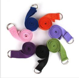 $enCountryForm.capitalKeyWord Australia - Multi-Colors Women Yoga Stretch Strap D-Ring Belt Fitness Exercise Gym Rope Figure Waist Leg Resistance Fitness Bands Cotton