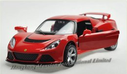 pull back race car 2019 - 1:32 Scale Alloy Diecast Metal Car Model For Lotus Exige S Collection Pull Back Luxury Racing Car Toys With Sound&Light