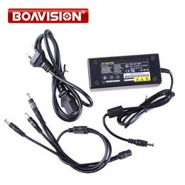 Vente en gros Alimentation CCTV caméra 4 ports 12V 5A utilisation pour 4 caméras / adaptateur de caméra CCTV-AC100-240V