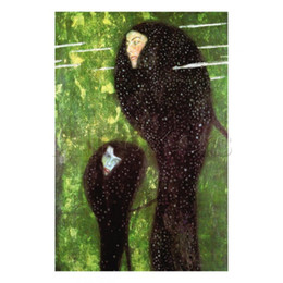 $enCountryForm.capitalKeyWord NZ - Gustav Klimt Portrait Mermaids oil painting reproduction canvas hand-painted home art decor