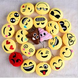 $enCountryForm.capitalKeyWord NZ - New QQ emoji plush pendant Key Chains Emoji Smiley Small pendant Emotion QQ Expression Stuffed Plush doll toy for Mobile bag pendant