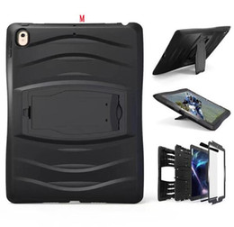 """Rotating Tablet Stand Australia - 360 Degree Rotating Pirate King Hard PC + Silicon Case For Ipad Pro 10.5"""" 2017 Ipad Pro 9.7"""" Tablet Stand Robot Hybrid Heavy Duty Cover 1pcs"""