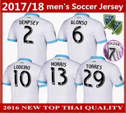 3825278248e NEW 2017 18 Seattle Sounders Home Soccer jerseys 2018 thai quality DEMPSEY  MORRIS ALONSO CUSTOMIZED football shirts uniform FREE Ship jersey