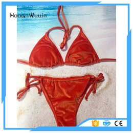 788c6acfcfae Velvet Swimsuit Canada - Velvet Bikini Set 2017 Women Swimsuit Monokini  Bodysuit Swimming bikini sexy women
