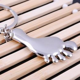 $enCountryForm.capitalKeyWord NZ - Alloy Big feet key chain keychains wedding favors Baby Shower Party gift key ring + DHL free shipping