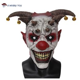 Mask Baratos-X -Merry Toy Jingle Jangle El Payaso Horror Látex Halloween Scary Head <b>Mask</b> Envío gratis X 12048