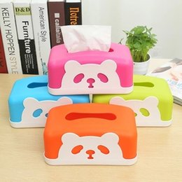 Paper Table Roll Australia - Wholesale- Paper Towel Tube Bear Roll Carton Paper Towel Pumping Household Desktop Storage Compartment Paper Table Napkin Tissue