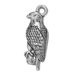 $enCountryForm.capitalKeyWord UK - lemegeton 30pcs wholesale Tibetan Silver Plated Bald Eagle Animal Series Metal Alloy Charms for Jewelry Making