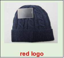 2017 Fashion Unisex Spring Winter Hats for Men women Knitted Beanie Wool  Hat Man Knit Bonnet Polo Beanie Gorros touca Thicken Warm Cap 07cc36f54cd4