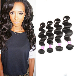 Wholesale Items Sold Australia - Malaysian Peruvian Mongolian Cambodian Indian Brazilian Human Hair Weaves Natural Black Body Wave Hair Extensions Dhgate Best Selling Items