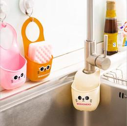 Bathroom Tools Canada - hot sale environmental protection bathroom kitchen accessories cute cartoons cats storage holders racks organizations hooks free shipping