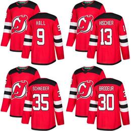 2017-2018 Season New Jersey Devils Jersey Blank 13 Nico Hischier 9 Taylor  Hall 30 Martin Brodeur 35 Cory Schneider Hockey Jerseys Cheap cheap hockey  jersey ... 0aa7cd03f