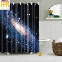 180*180Cm Bath Curtain Starry Sky Beautiful Universe Creative Bathroom  Decor Square Polyester Shower Curtains Mildew Proof Digital Printing