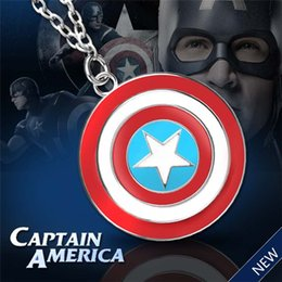 """Marvel Shield Canada - High quality New Marvel Comics """"Captain America"""" Shield Fashion Pendant Man's Necklace facotry price as gift free shipping"""
