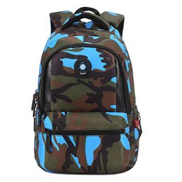 Cool Small Backpacks UK - Small Size Fashion Camouflage Kid Backpack Bag School Bags Travel Backpack Bags For Cool Boy And Girl