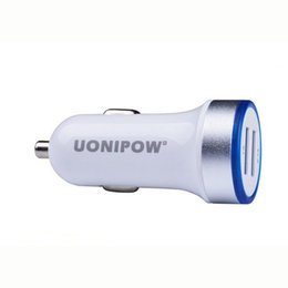 original lg charger UK - Original Uonipow Car Charger Dual Port USB Charger 3.1A Smart Auto Adapter Charging Car charger for iphone Huawei With Retail Packing