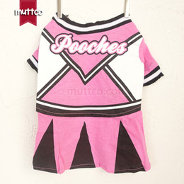 $enCountryForm.capitalKeyWord Canada - Wholesale pet clothes soft dog clothing polyester cotton sweat cloth pet beautiful girl cheer leading skirt teddy chihuahua GYF-001