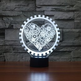 $enCountryForm.capitalKeyWord Canada - 3D Love Gear Lamp Night Light 7 RGB Lights DC 5V USB Charging 5th Battery Free Shipping