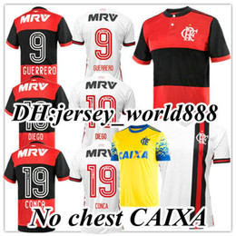 fab51a2c8 online shopping Top Thai quality Chandal Flamengo home Soccer Jersey Brasil  Flemish flamengo Away white DIEGO