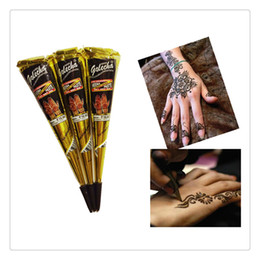 tatoo lips wholesale NZ - Hot Henna Tattoo Paint Waterproof Temporary Tattoo Body Arts Mehndi Flash Tatoo Swimsuit Wedding Dress Makeup Tools DIY Temporary Drawing