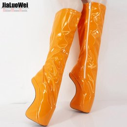 $enCountryForm.capitalKeyWord Canada - Free Drop Shipping 2018 Fashion women autumn spring boots sexy fetish Ballet high heels no-heel shoes knee high boots white long boot 18cm